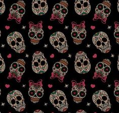 Image about girl in Pattern 👯 by ManuRayxor on We Heart It Pink Skull, Sugar Skull Art, Cute Wallpapers, Wallpaper Backgrounds, Iphone Wallpaper, Wallpaper Caveira, Skull Pictures, Mexican Skulls, Red Art