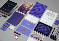 Confideri identity by Arenas Lab.  Love the color, chevron, and use of photographs.