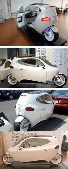 inabalável carro de duas rodas This electric bike from Lit Motors would be the coolest way to get around the city. Great design and low environmental impact. Virago 535, Lit Motors, Futuristic Cars, Motorcycle Bike, Transportation Design, Future Car, Reverse Trike, Electric Cars, Concept Cars