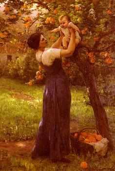 Hippolyte Camille Delpy (1842-1910) Demont-Breton_Virginie_Mere_Et_Enfant_Dans_Le_Jardin