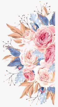 Watercolor Flowers,