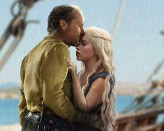 Sir Jorah Mormont & Daenerys Targaryen - Game of Thrones Game Of Thrones Funny, Game Of Thrones Art, Danarys Targaryen, Ser Jorah Mormont, Bear Island, Iain Glen, Game Of Throne Daenerys, Nikolaj Coster Waldau, Tv Show Music
