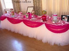 Oh my gosh I would LOVE to do this table for the raffle displays or even the food! Maybe in the future