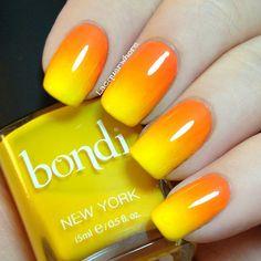 Nails Acrylic Orange And Yellow 42 Ideas Orange Nail Designs, Marble Nail Designs, Cute Nail Designs, Yellow Nails Design, Coffin Nails, Acrylic Nails, Orange Ombre Nails, Gradient Nails, Super Nails