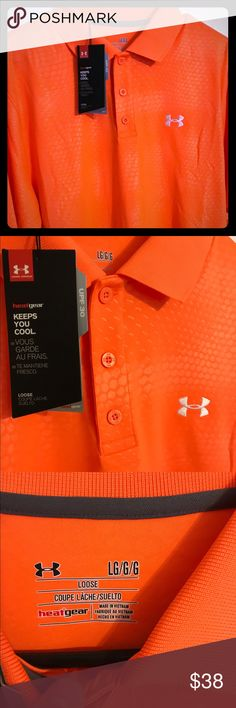 Under armor polo new nwt, protection from sun Under armor new nwt, nice sun protective polo Under Armour Shirts Polos