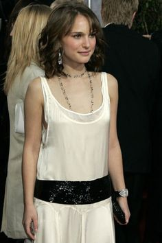 Natalie Portman can wear a 20's drop waist shift dress as if it were current couture!
