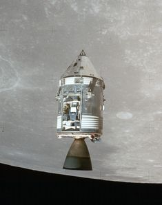 Space Frontier The Apollo 15 command module in lunar orbit, July (NASA) - Apollo Spacecraft, Soyuz Spacecraft, Apollo Space Program, Nasa Space Program, Apollo Missions, Moon Missions, Astronomy Science, Space And Astronomy, Hubble Space