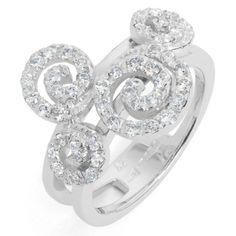 Spiral Ring - 18ct White Gold/Diamonds #diamonds #diamond #jewellery #lovely #gift #catherinejones #cambridge #local #spiral #ring