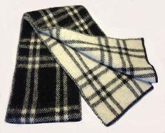 - Icelandic Brushed Wool Scarf - Black & White Checkered - Wool Accessories - Nordic Store Icelandic Wool Sweaters