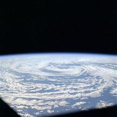 Remembering Apollo 9 - View of a cyclone as photographed in March of 1969.- www.Retro Space Images.com Apollo 9, Space Images, Airplane View, March, Science, Retro, Retro Illustration, Mac