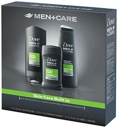 Dove Men Plus Care Everyday Gift Pack Dove Micro Moisture Body Wash, Anti-Perspirant Deodorant 48 Hr Powerful Protection, Fortifying Shampoo + Conditioner Free Gift Wrap For Father's Day!  $11.19      http://www.amazon.com/gp/product/B00K58PKV6/ref=as_li_tl?ie=UTF8&camp=211189&creative=373489&creativeASIN=B00K58PKV6&link_code=as3&tag=homelcollepor-20&linkId=AZQNDLDP7XBMRNZX