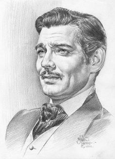 Pencil Portrait Mastery - Clark Gable - Discover The Secrets Of Drawing Realisti. - Pencil Portrait Mastery – Clark Gable – Discover The Secrets Of Drawing Realistic Pencil Portra - Celebrity Caricatures, Celebrity Drawings, Celebrity Portraits, Portrait Au Crayon, Pencil Portrait, Portrait Art, Realistic Pencil Drawings, Pencil Art Drawings, Face Drawings