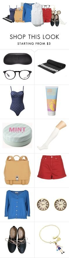 """""""Summer time! - Lewis [Meet the Robinson]"""" by alexxhutcherson ❤ liked on Polyvore featuring Ray-Ban, Monki, COOLA Suncare, Forever 21, Dorothy Perkins, Proenza Schouler, Topshop, Alysi, Equipment and Miz Mooz"""