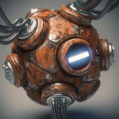 Mech Orb Render Ball, Brian Recktenwald on ArtStation at https://www.artstation.com/artwork/PObyy