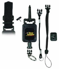 "Gear Keeper RT4-5272 Deluxe Instrument/Gear Tether: - Retractable Tether for Camera's / Range finders / Dog Transmitters / GPS units / FRS Radio's - 9-oz Retraction Force 32"" Extension 60-lb break/release - 3 Mounting Options Included-Snap Clip / Velcro Strap / Threaded Stud - Quick Connect Gear Attachment System includes Q/C Split Ring and 2 Q/C Lanyards - Combo Mount and added accessories allows for the ultimate in versatility"