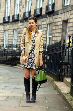 edimburgo outfit estivo con stivali antipioggia :-)