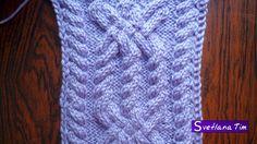 Узор АРАН 3 Косички. Вязание на спицах