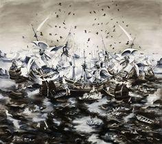Tamara Piilola FOREVERMORE, 2014, oil on canvas, 240 x 270 cm