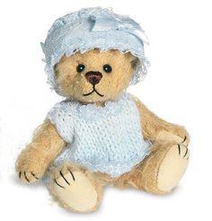 Teddy Hermann Miniature 'Teddy Baby Blue Collectors Bear in Gift Box 16236 | eBay