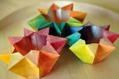 colorful star candle holders