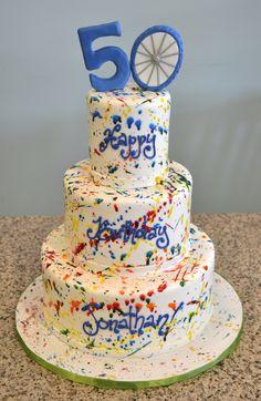 Happy 50th Birthday Cake Apple Green Pinterest Happy 50th