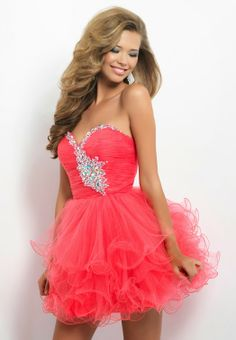 Ball Gown Sweetheart Tulle and Beading Homecoming Dress - HomeComing Dresses - Special Occasion Dresses - Wedding Events Dresses Short, Sweet 16 Dresses, Dance Dresses, Pretty Dresses, Beautiful Dresses, Formal Dresses, Dresses Dresses, Dresses Online, Pagent Dresses