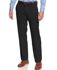 Kenneth Cole Reaction Slim-Fit Sharkskin Dress Pants - Black 34x29