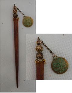 Gold & Green Celtic Tree of Life Charm Beaded Wooden Hair Stick New Shawl Pin  #Handmade #HairStick http://www.ebay.com/itm/Gold-Green-Celtic-Tree-of-Life-Charm-Beaded-Wooden-Hair-Stick-New-Shawl-Pin-/162152777796?ssPageName=STRK:MESE:IThttp://www.ebay.com/itm/Gold-Green-Celtic-Tree-of-Life-Charm-Beaded-Wooden-Hair-Stick-New-Shawl-Pin-/162152777796?ssPageName=STRK:MESE:IT