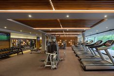 The project is located in the heart of Playa del Carmen on an irregular site that slopes down to the sea, with a beachfront and a. Gym Interior, Mansion Interior, Dream Home Gym, Luxury Gym, Gym Lighting, Capsule Hotel, Gym Decor, Gym Room, Grand Hyatt