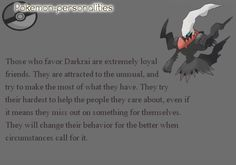 Darkrai is my ultimate favorite Pokemon!