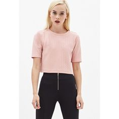 Knit Crop top • COLOR: Pink  • Purchased at Forever 21.   • New - Never worn.   • Great condition  • Can fit a medium • comes with tags   🚫 I DO NOT TRADE 🚫 Forever 21 Tops Crop Tops