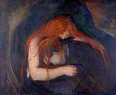 Vampire (1895) Edvard Munch (1863 - 1944) Painting 91 x 109 cm. The Munch Museum, Oslo