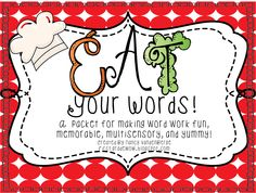 First Grade Wow: Eat Your Words Pack