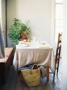 Natural dinner table. #loomcurated #simpleinterior #erichmcvey #naturallight
