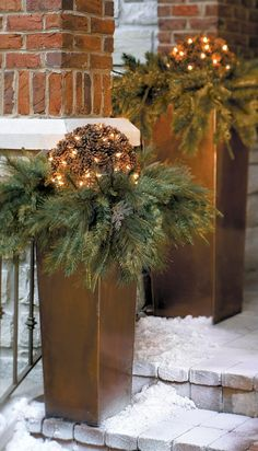 A Grandin Road exclusive, this Pre-lit Pinecone Greenery is holiday décor that's outside the typical big-box-store thinking.