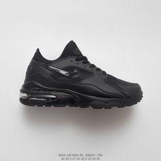 ac5a1963d9a7f 551-700 FSR Nike Air Max 93 Vintage Air Short sleeve foot Jogging Shoes  Whole black