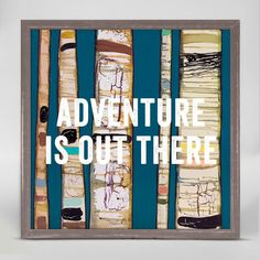 Oopsy Daisy Art - Adventure Is Out There - Mini Framed Canvas Art - Size 6''x6'' - Price $29.98 - Shop Now!