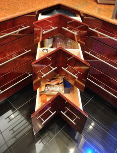 Terrific Kitchen Storage Ideas - great idea for corner storage - drawers Not the lazy susan deal