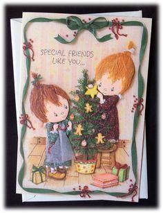 Vintage 1987 Hallmark Betsey Clark Special Friends Like You Christmas Card | eBay