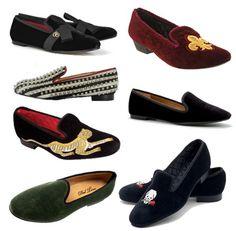 fashionable velvet slippers for mens #classic #shoes #velvetslippers photo not mine