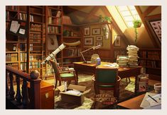 ArtStation - Hidden Object Games Backgrounds, RENJU MV