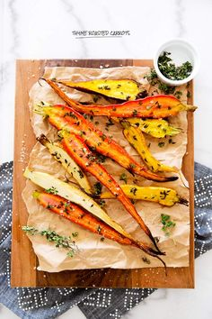 THYME ROASTED HEIRLOOM CARROTS -