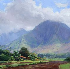 Hawaii oil painting. Shadow and Light by Jenifer Prince