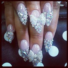 .@vondivanails | My latest nails  #NailCouture #Nails #Swarovski #Crystals #Bling #Fierce #Fab...
