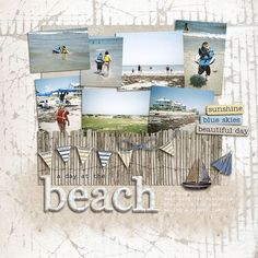 scrapbook paper printables for vacation | carolina scrapbook album using some wonderful kit scrapbooking layout ...