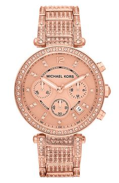 Michael Kors 'Parker' Chronograph Bracelet Watch, 39mm | Nordstrom - or maybe even this one.  such a tough choice!