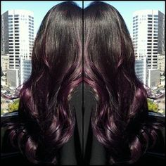Purple Ombre Hair by Katy Love Hair - Very tempted to do something similar in the fall.