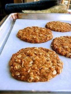 The Bojon Gourmet: Anzac Biscuits (in the British sense of the word) British Biscuits, Bojon Gourmet, Healthy Snacks, Healthy Recipes, Galletas Cookies, Golden Syrup, Popular Recipes, Food And Drink, Cooking Recipes