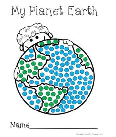 My Planet Earth is a fine motor development activity to do with you preschool. Earth Craft, Earth Day Crafts, Planets Activities, Motor Activities, World Earth Day, Planet Earth, Earth Day Pictures, Earth Day Coloring Pages, Painted Earth