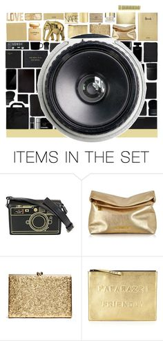 """""""Gold and Black Camera"""" by stelbell ❤ liked on Polyvore featuring art"""